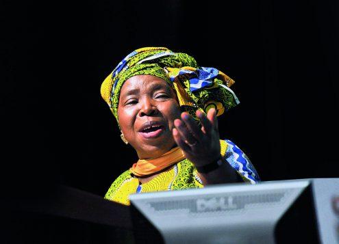 Dr Nkosazana Dlamini Zuma at the opening of the Science Forum at the CSRI in Pretoria. Picture: Antoine de Ras, 08/12/2015