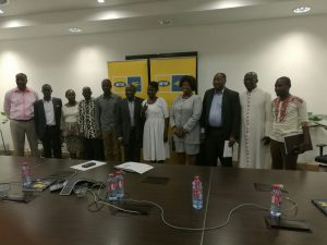 MTN Ghana CEO and winners and finalists in a group picture
